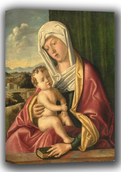 Bellini, Giovanni: Madonna with Child. Fine Art Canvas. Sizes: A4/A3/A2/A1 (001867)